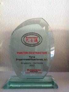 Imagen Yona Impermeabilizaciones obtiene el premio Master Contractor de Firestone ...